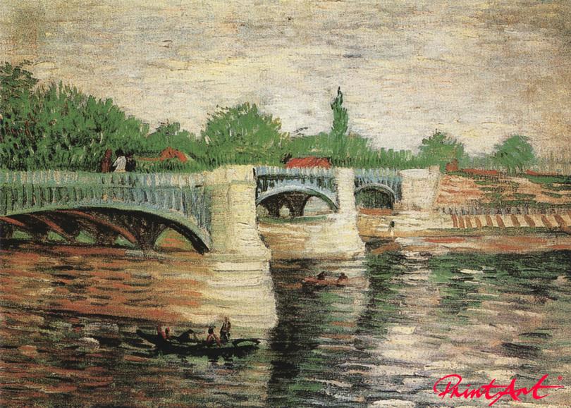 """Die Seine mit der Brücke """"Grande Jatte"""" Van Gogh Vincent"""
