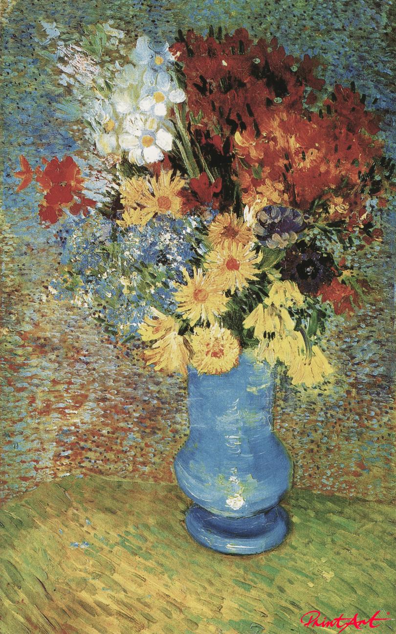 Vase mit Margeriten und Anemonen Van Gogh Vincent