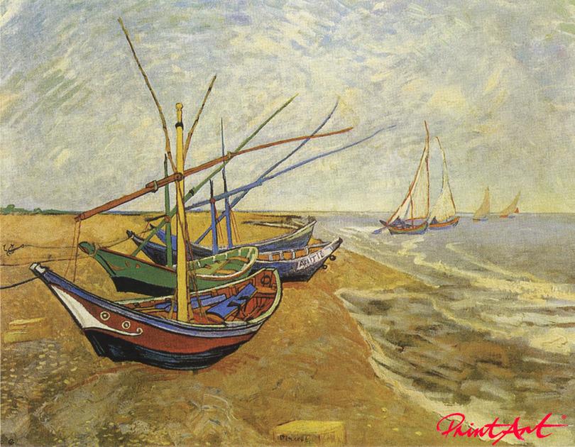 Boote von Saintes-Maries Van Gogh Vincent