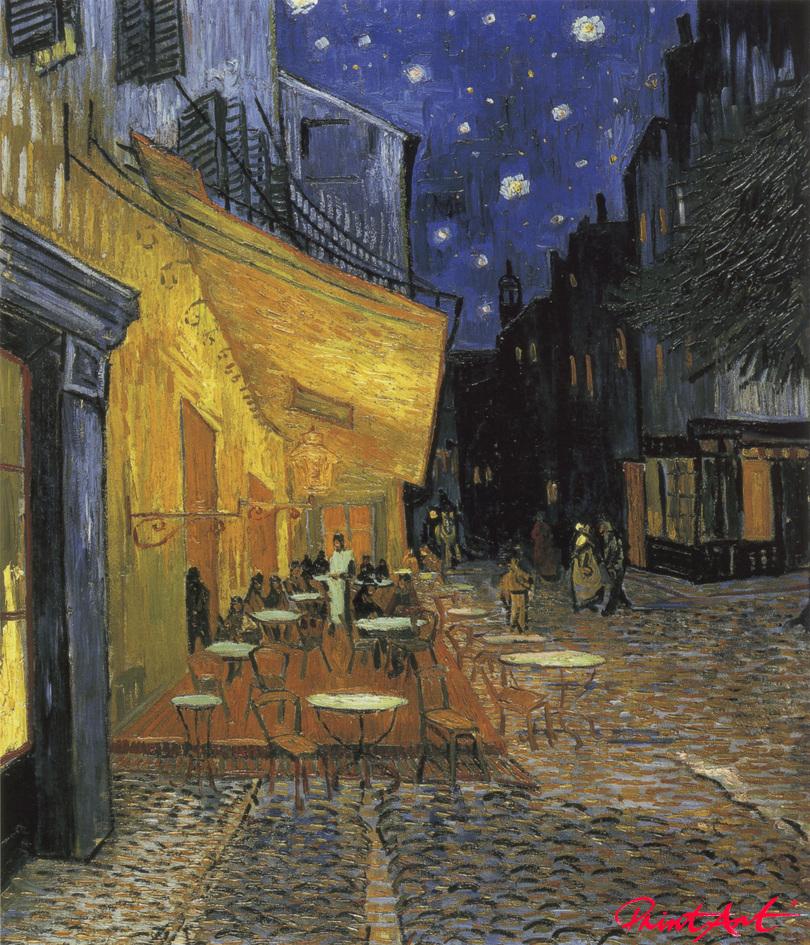 Nachts vor dem Café an der Place du Forum in Arles Van Gogh Vincent