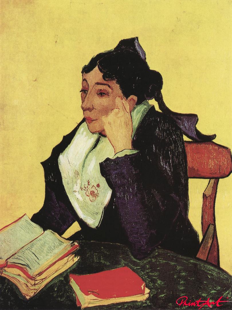 L'Arlésienne: Madame Ginoux mit Büchern Van Gogh Vincent