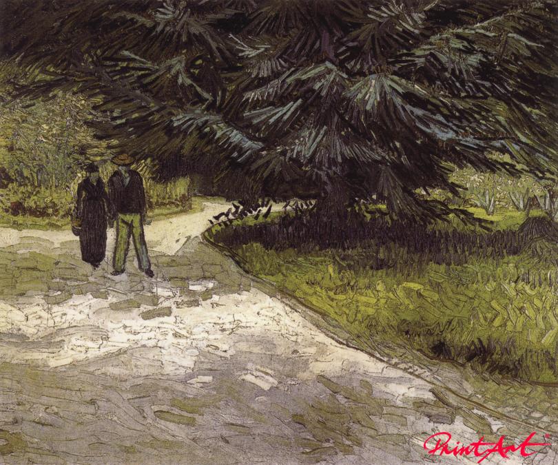 Mann und Frau in einem Park Van Gogh Vincent