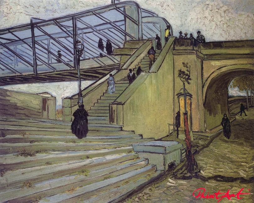 Die Rhonebrücke bei Trinquetaille in Arles Van Gogh Vincent
