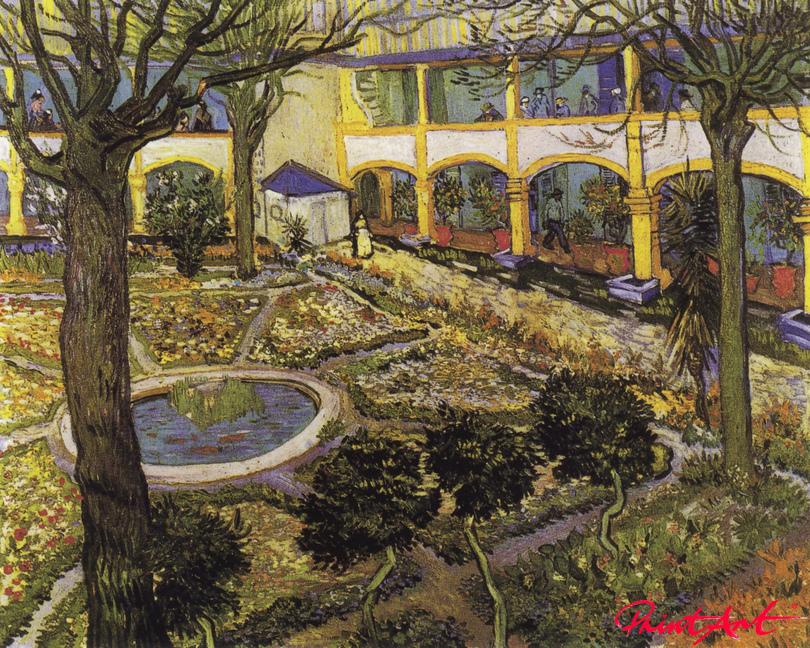 Der Hof des Hospitals in Arles Van Gogh Vincent