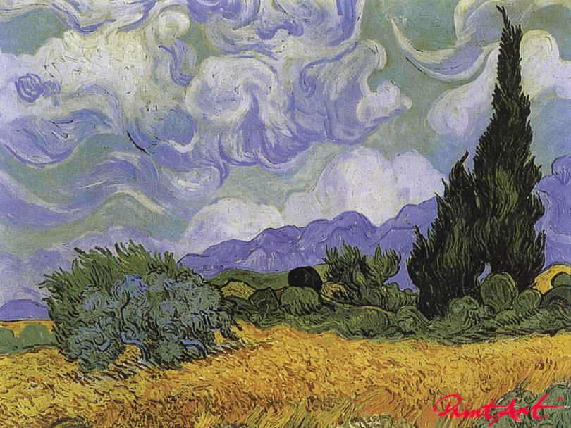 Kornfeld mit Zypressen Van Gogh Vincent