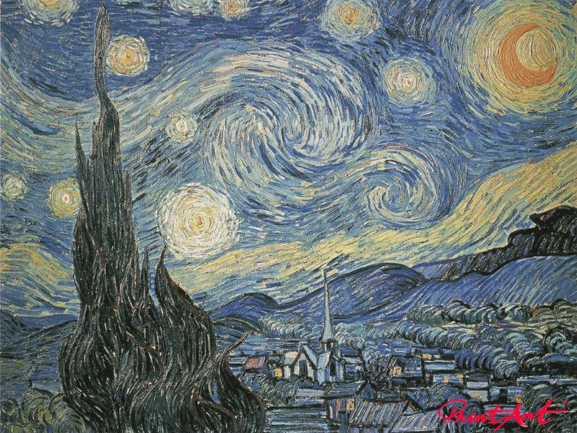 Die Sternennacht Van Gogh Vincent