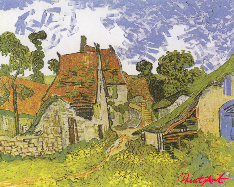 Strasse in Auvers Van Gogh Vincent