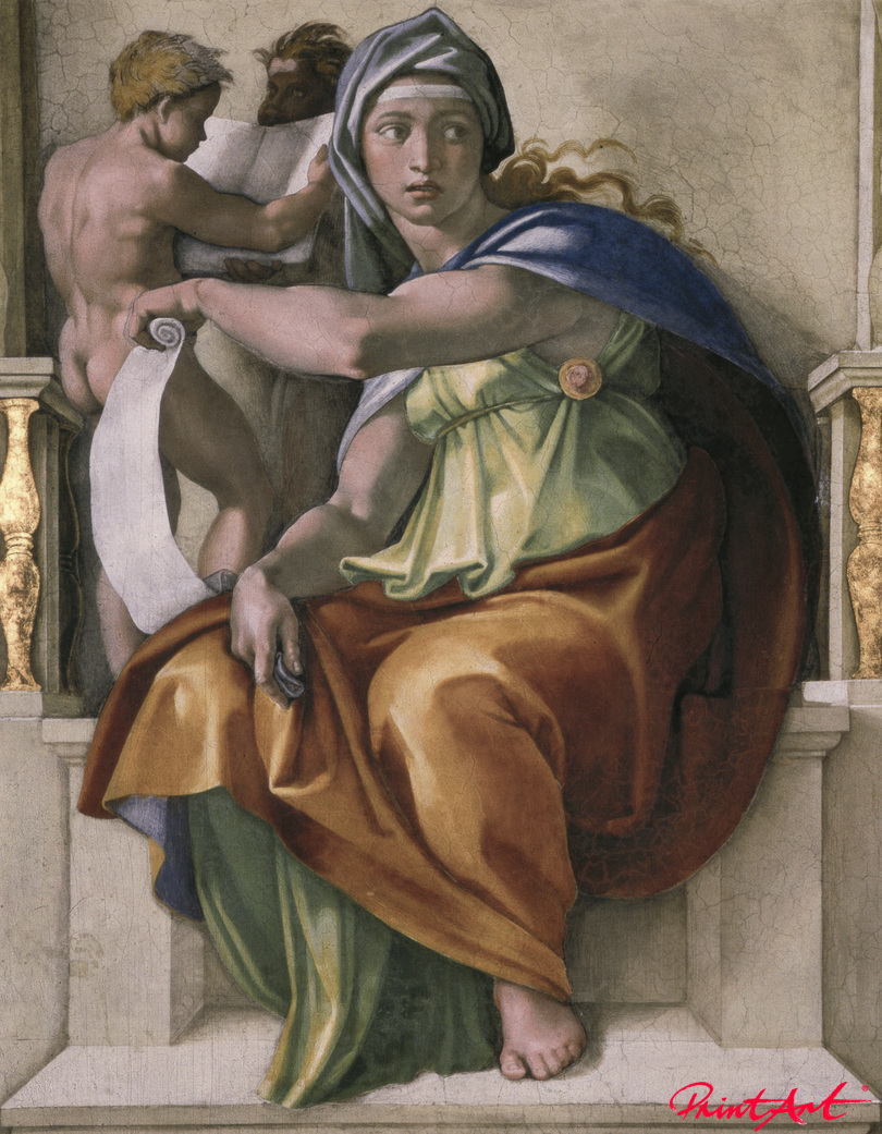 Delphische Sibylle Michelangelo