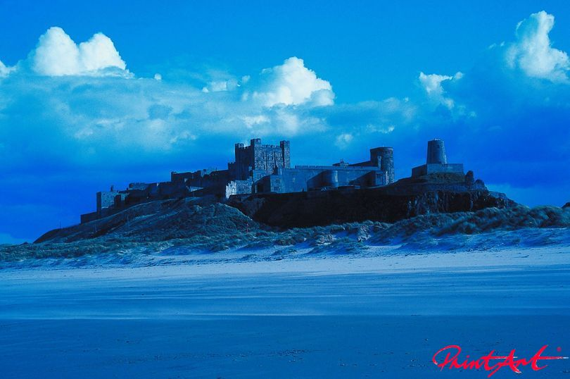 blau mit Castell Strände