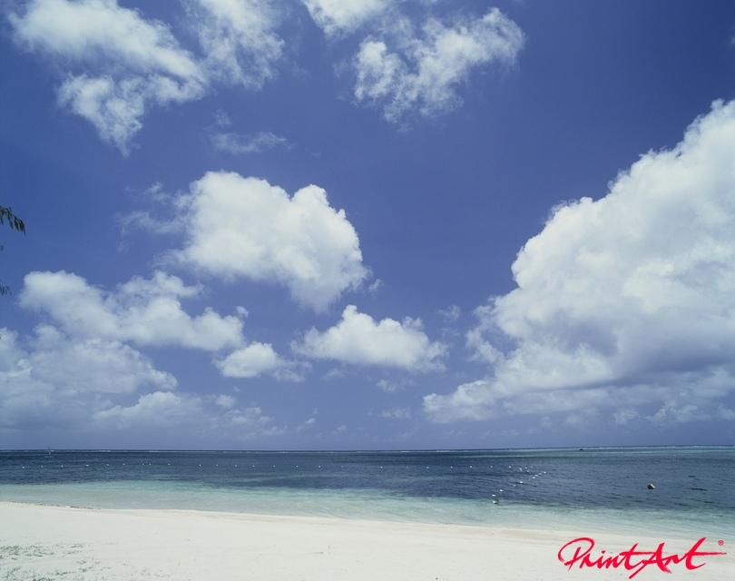blauer Wolkenhimmel Strände