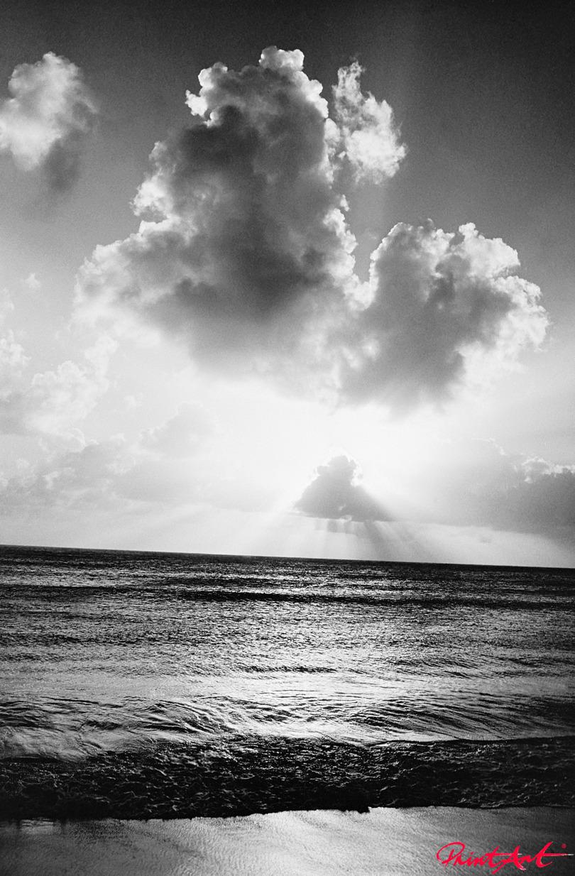 Sonne hinter Wolken Strände