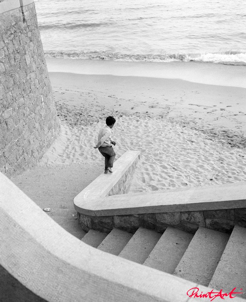 Steintreppe zum Strand Strände