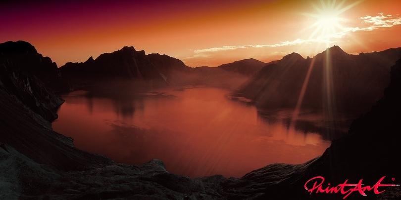 Abendsonne Berge