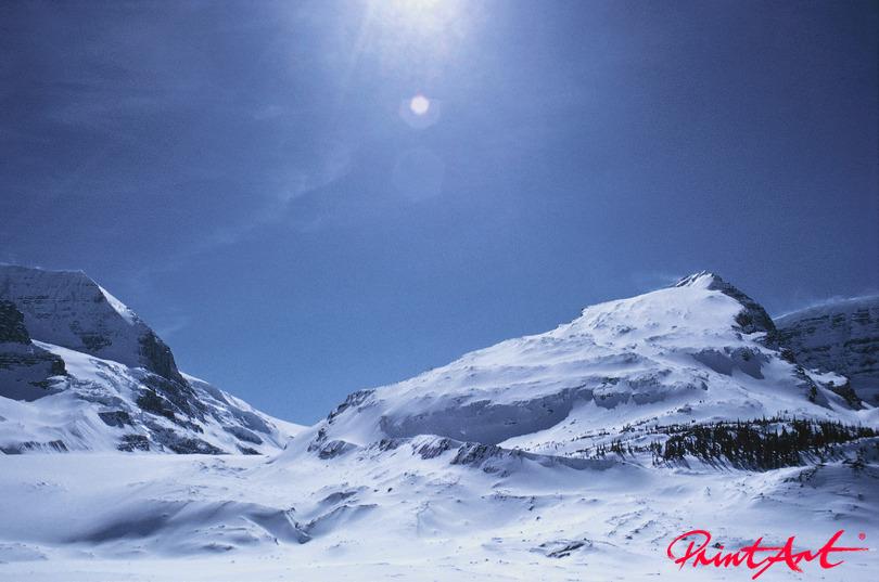 kalter Abhang Berge