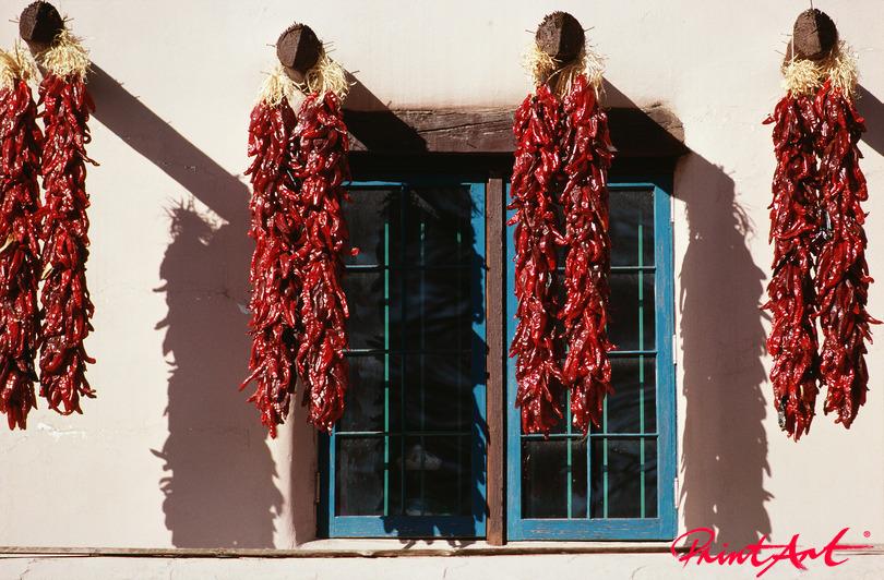 Chilli vor Fenster Essen