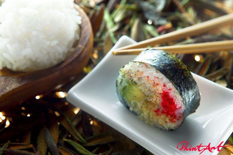 Sushi mit Reis Essen