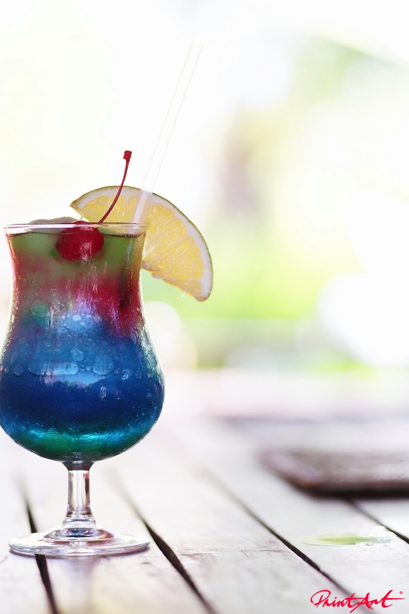 blau bunt Trinken