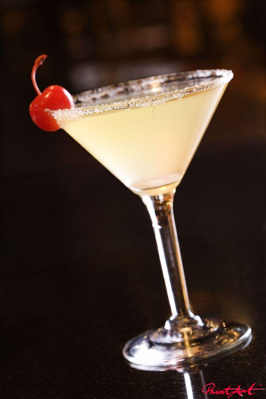Vanille mit Zuckkerrand Trinken
