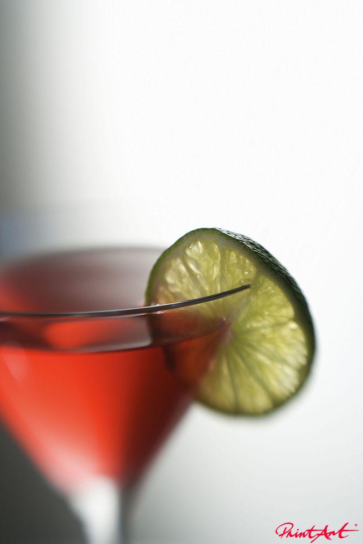 rot mit Limette Trinken