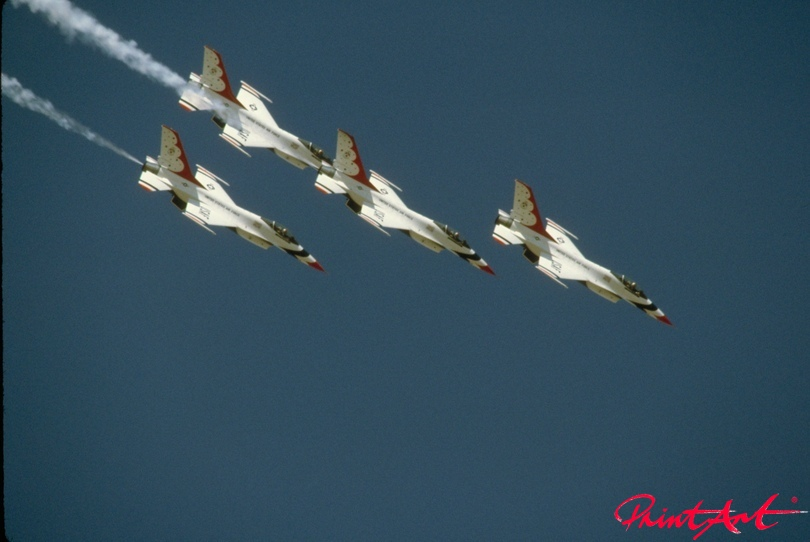 USA Staffel Luftaufnahme Flugzeuge