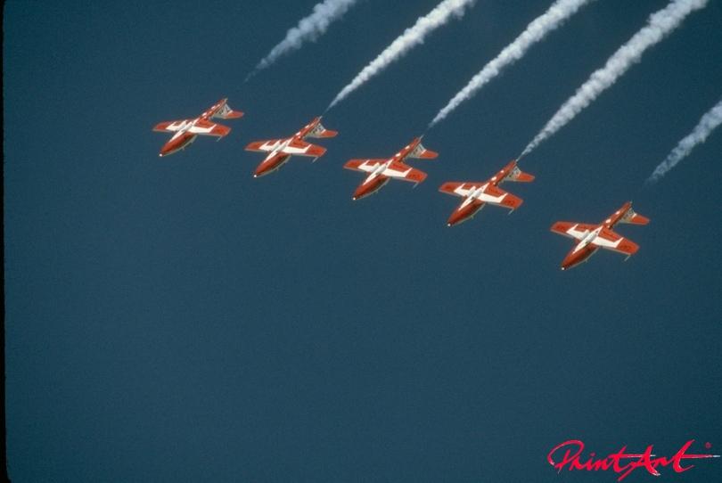 Snowbirds Luftaufnahme Flugzeuge
