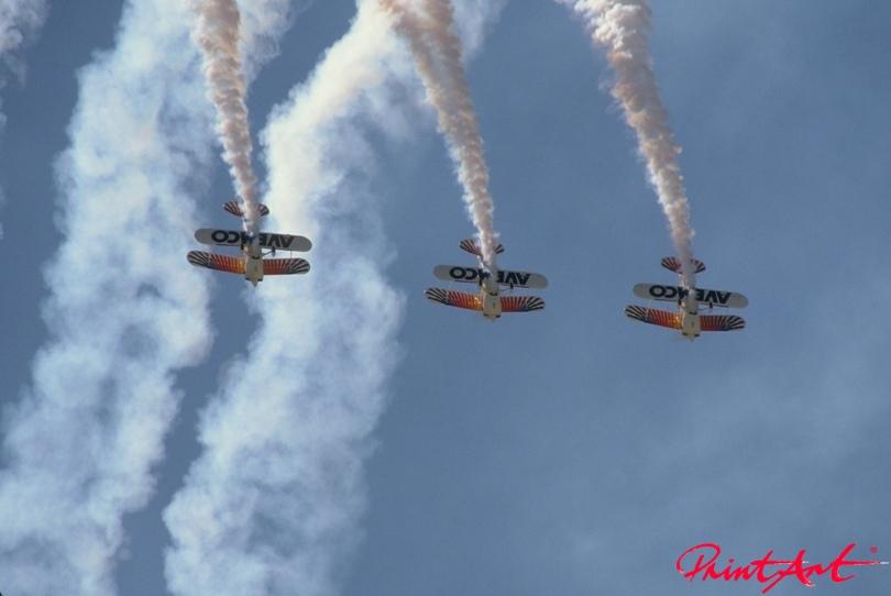 Doppeldecker Luftaufnahme Flugzeuge