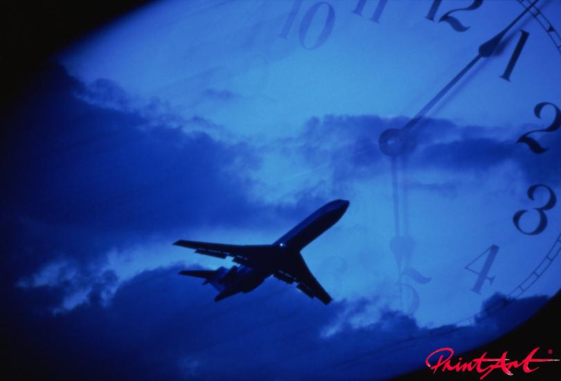 Time blue Flugzeuge