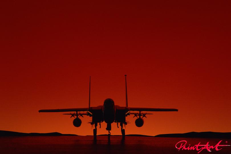 Militärjet Sonnenuntergang Flugzeuge