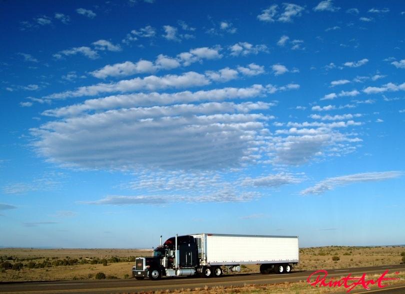 Truck auf Landstrasse Trucks
