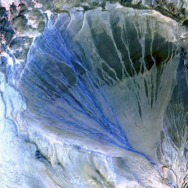 Alluvial Fan World As Art (Satelitenbilder)