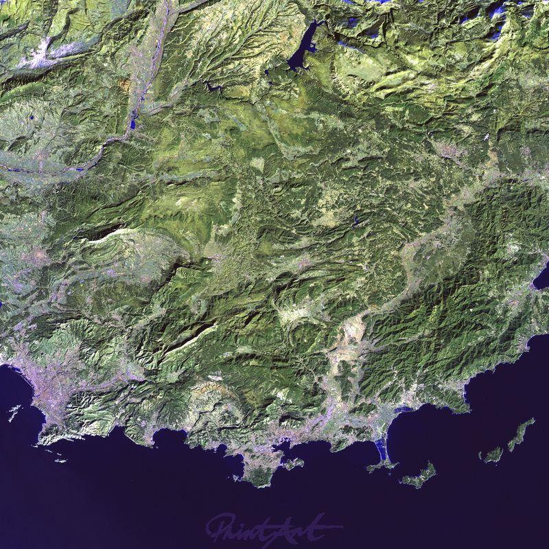 Küste von Frankreich World As Art (Satelitenbilder)