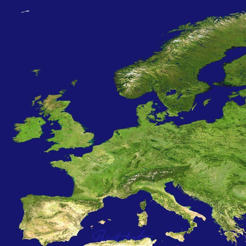 Europa World As Art (Satelitenbilder)