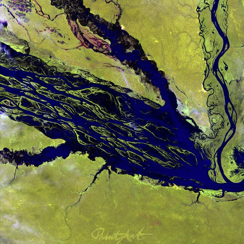 Rio Negro, Brasilien World As Art (Satelitenbilder)
