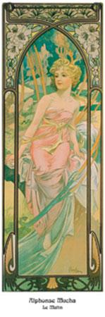 Le matin Kunstdruck Mucha Alphonse Marie