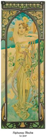 Le jour Kunstdruck Mucha Alphonse Marie