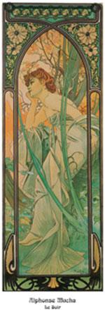 Le soir Kunstdruck Mucha Alphonse Marie