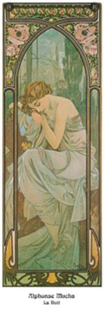 La nuit Kunstdruck Mucha Alphonse Marie