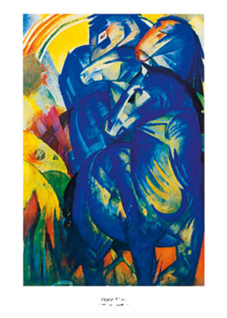 Torre dei cavalli blu Kunstdruck Marc Franz