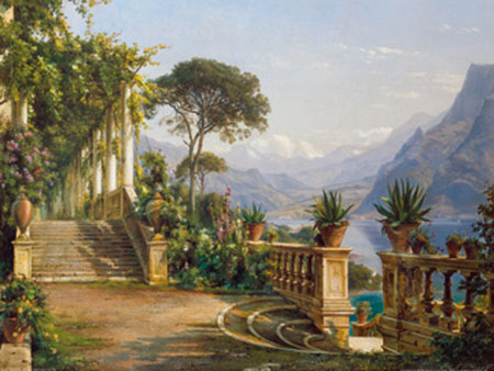 Lodge on Lake Como Kunstdruck Aagaard Carl Frederic