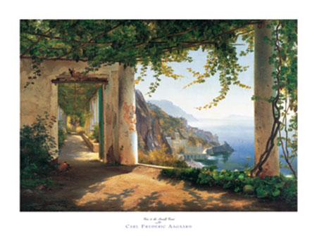View to the Amalfi coast Kunstdruck Aagaard Carl Frederic