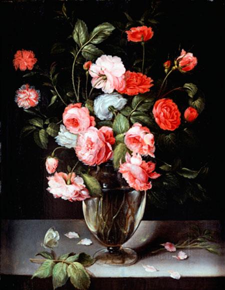 Rosen und Nelken in einer Vase Brueghel Ambrosius