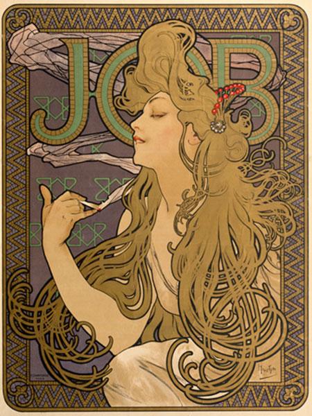 """Werbeplakat für JOB""""           """" Mucha Alphonse Marie"""