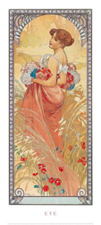 Eté, 1900 Kunstdruck Moore Albert Joseph