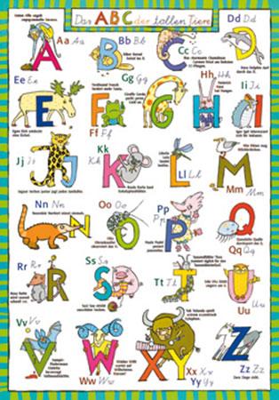 ABC der tollen Tiere Kunstdruck Altevers Gabriele