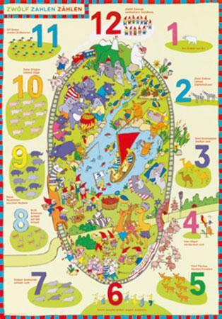 Zwölf Zahlen zählen Kunstdruck Altevers Gabriele