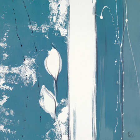 Blue Aura I Kunstdruck mit Folienprägung Burd Lee