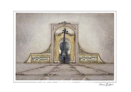 Violine Kunstdruck mit Folienprägung Birkel Armin