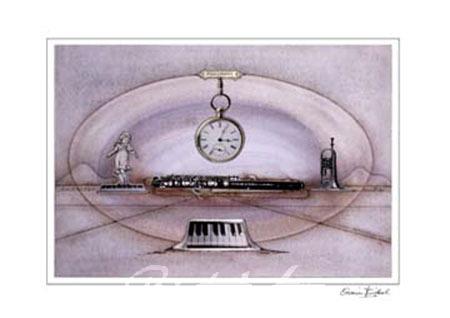 Flauto e Pianoforte Kunstdruck mit Folienprägung Birkel Armin