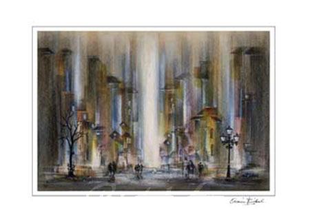 City III Kunstdruck mit Folienprägung Birkel Armin