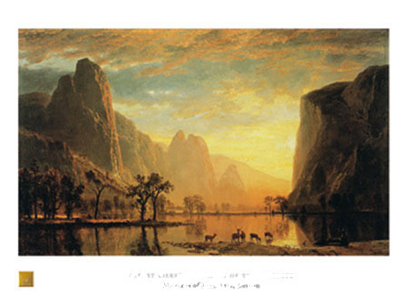 Valley of the Yosemite Kunstdruck Bierstadt Albert
